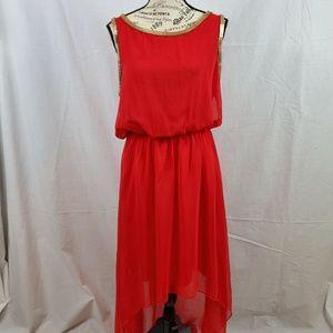 Double Zero Hi Low Sleeveless Dress Medium (643)